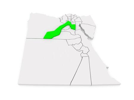 giza: Map of Giza. Egypt. 3d