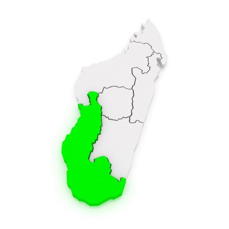 madagascar: Map of Toliara. Madagascar. 3d