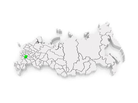 federation: Map of the Russian Federation. Tambov region. 3d