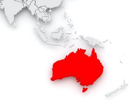 map of australia: Map of worlds. Australia. 3d