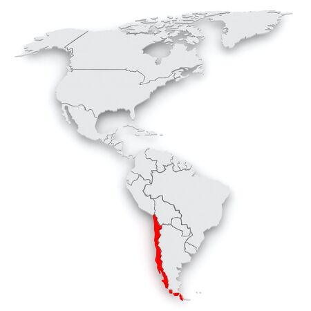 diplomacy: Map of worlds. Chile. 3d