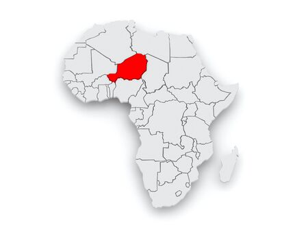 diplomacy: Map of worlds. Niger. 3d
