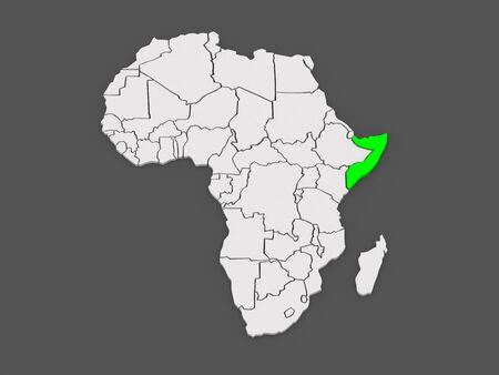somalia: Map of worlds. Somalia. 3d