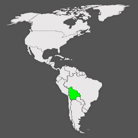mapa de bolivia: Mapa de los mundos. Bolivia. 3d