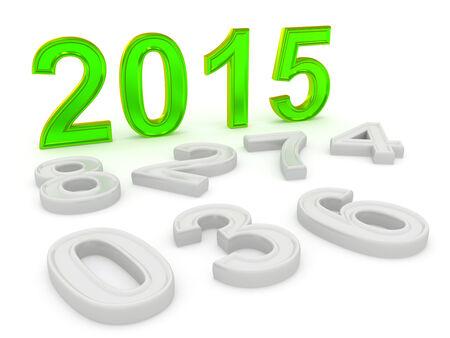 Happy New Year 2015. 3d photo