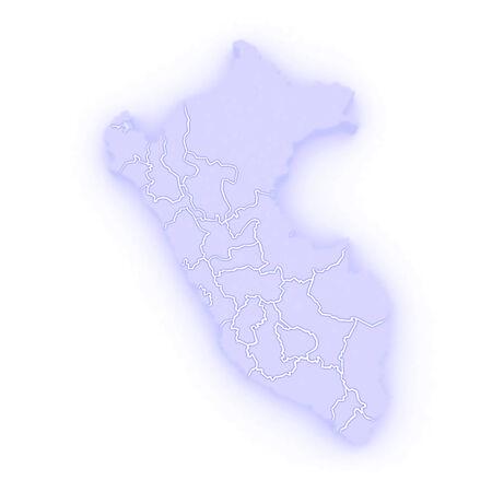 mapa del peru: Mapa de Per�. 3d Foto de archivo