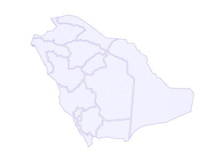 arabia: Map of Saudi Arabia. 3d