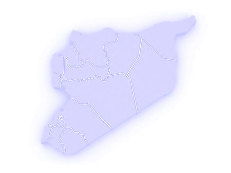 syria: Map of Syria. 3d