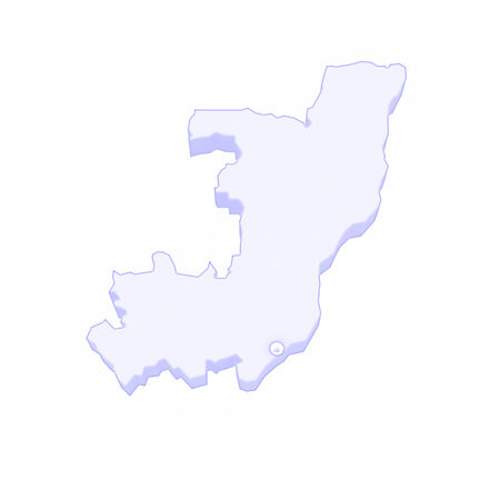 congo: Map of Republic of the Congo. 3d Stock Photo