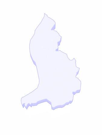 liechtenstein: Map of Liechtenstein. 3d