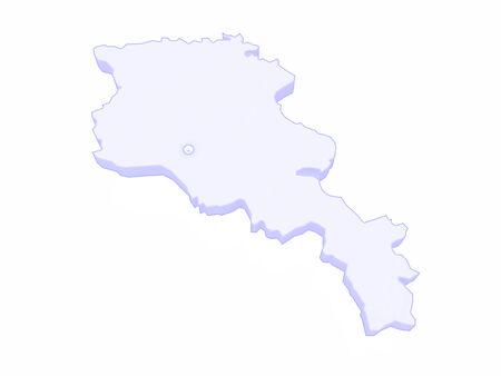 map of armenia: Map of Armenia. 3d Stock Photo