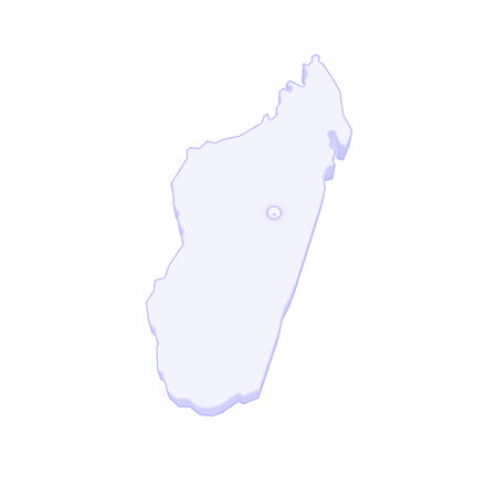 madagascar: Map of Madagascar. 3d