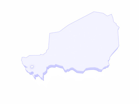 niger: Map of Niger. 3d