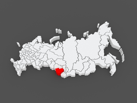 altai: Map of the Russian Federation. Altai Krai. 3d