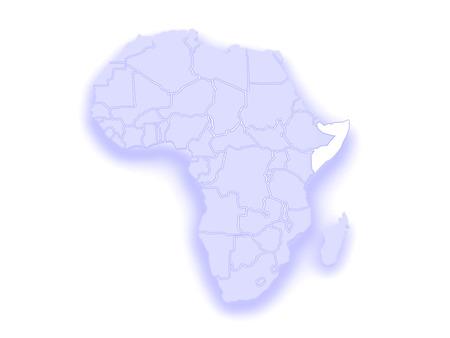 diplomacy: Map of worlds. Somalia. 3d