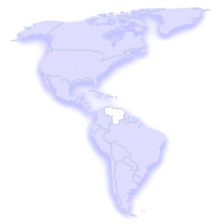 mapa de venezuela: Mapa de los mundos. Venezuela. 3d Foto de archivo