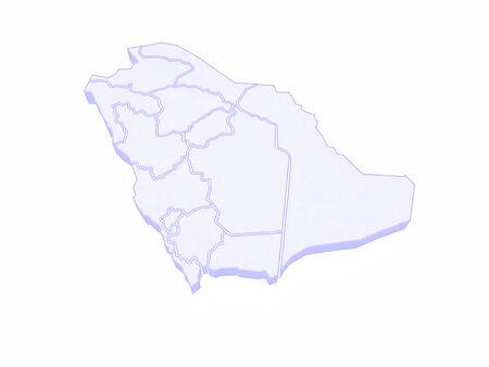 saudi: Map of Saudi Arabia. 3d