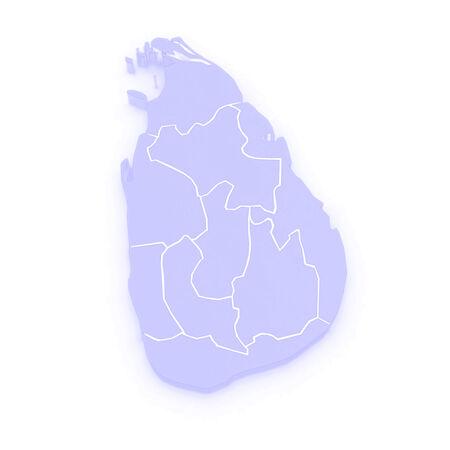 sri: Map of Sri Lanka. 3d Stock Photo