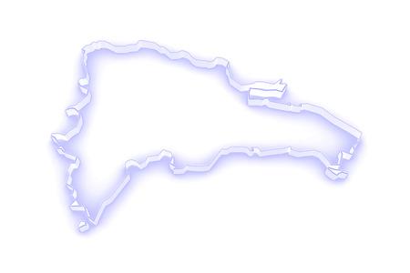 dominican: Map of Dominican Republic. 3d