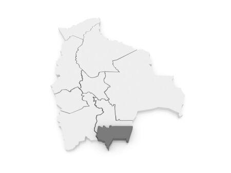 mapa de bolivia: Mapa de Tarija. Bolivia. 3d