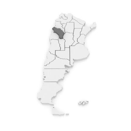 rioja: Map of La Rioja. Argentina. 3d