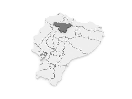 ecuador: Map of Pichincha. Ecuador. 3d