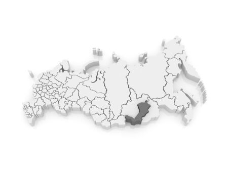 buryatia: Map of the Russian Federation. Republic of Buryatia. 3d