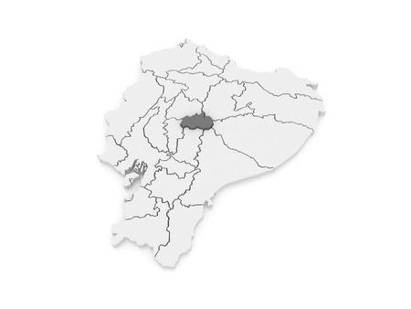 tungurahua: Map of Tungurahua. Ecuador. 3d