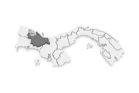bugle: Map of Ngobe Bugle. Panama. 3d