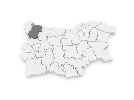 bulgaria: Map of Montana area. Bulgaria. 3d