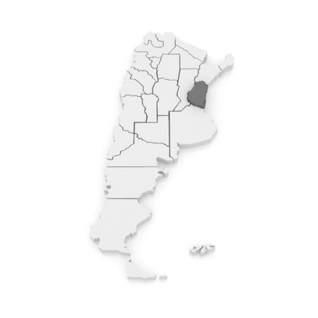 Map of Entre Rios. Argentina. 3d Imagens