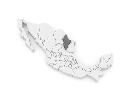 nuevo: Map of Nuevo Leon. Mexico. 3d Stock Photo
