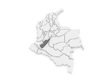 huila: Map of Huila. Colombia. 3d Stock Photo