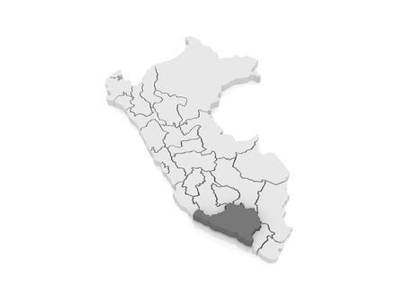 mapa del peru: Mapa de Arequipa. Per�. 3d