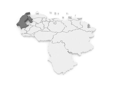 mapa de venezuela: Mapa del Zulia. Venezuela. 3d