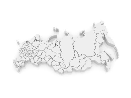 st  petersburg: Map of the Russian Federation. St. Petersburg. 3d