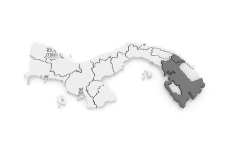 panama: Map of Darien. Panama. 3d