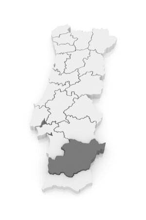 Map Of Beja Portugal D Stock Photo Picture And Royalty Free - Portugal beja map