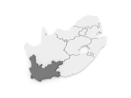Map Of Western Cape Cape Town South Africa 3d Stock Photo