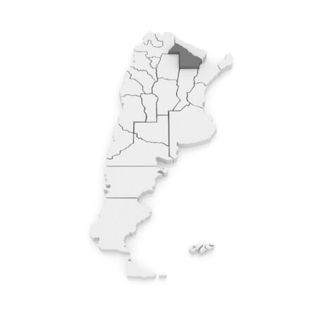 chaco: Map of Chaco. Argentina. 3d