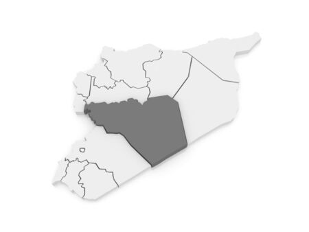 syria: Map of Homs. Syria. 3d