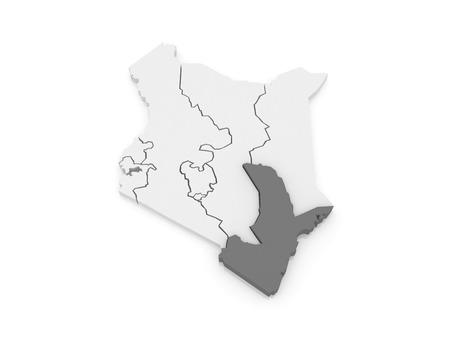 kenya: Map of Seaside. Kenya. 3d