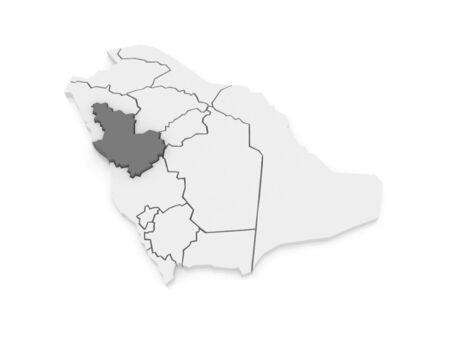 madina: Map of El Madina. Saudi Arabia. 3d