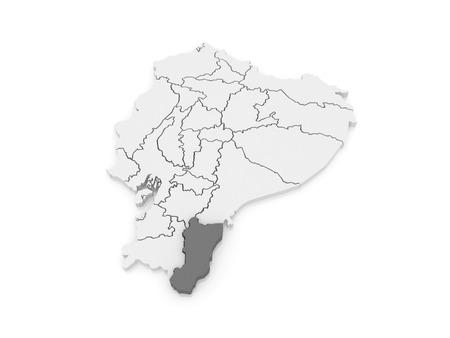 zamora: Map of Zamora. Ecuador. 3d