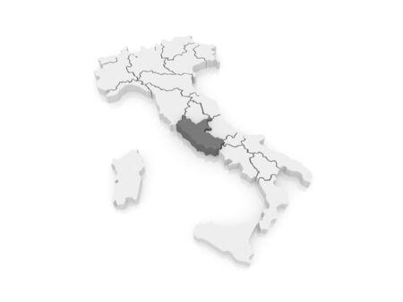 lazio: Map of Lazio. Italy. 3d Stock Photo