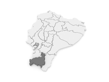ecuador: Map of Loja. Ecuador. 3d