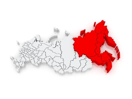 far: Far Eastern Federal District. Russian Federation. Russia