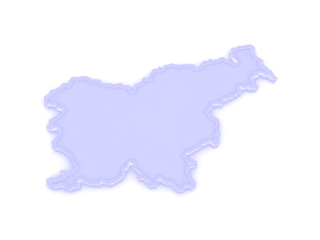 Map of Slovenia. 3d photo