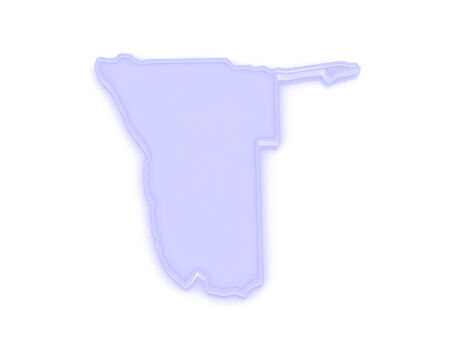 namibia: Map of Namibia. 3d
