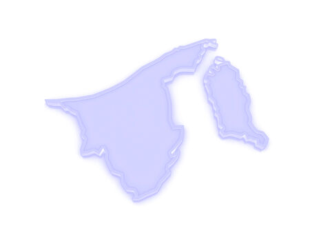 map of brunei: Map of Brunei. 3d